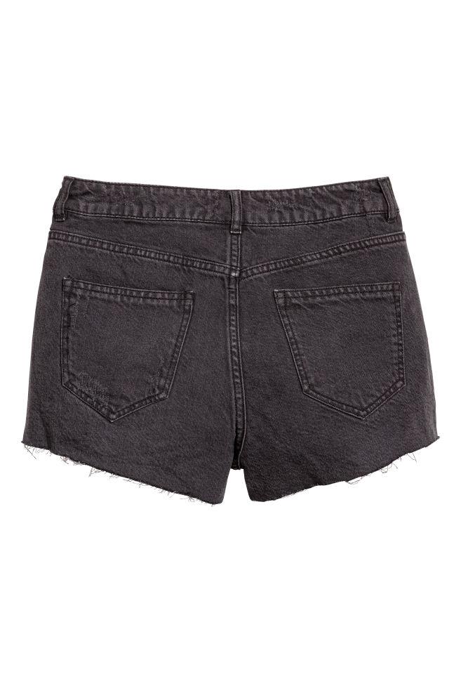 ... Short en jean Taille haute - Noir - FEMME  00311d30361
