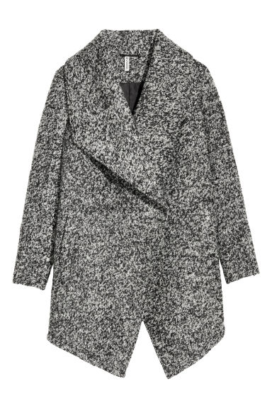 Double-breasted coat - Dark grey marl -  | H&M