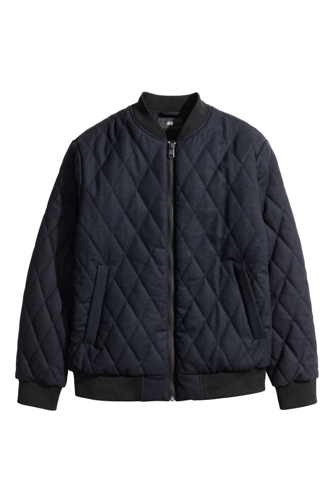 57329d622 Quilted bomber jacket