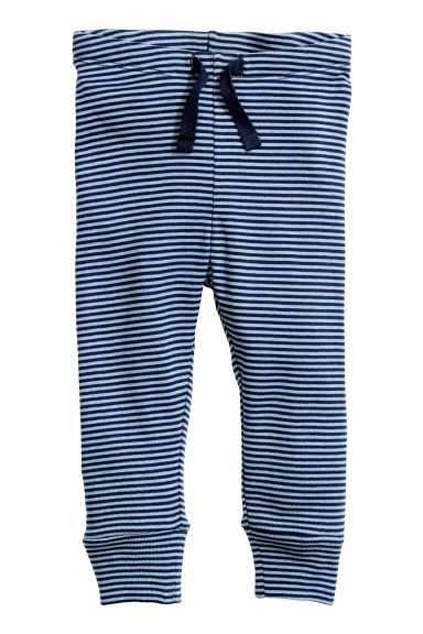 Jersey trousers - Blue/Striped - Kids | H&M CN