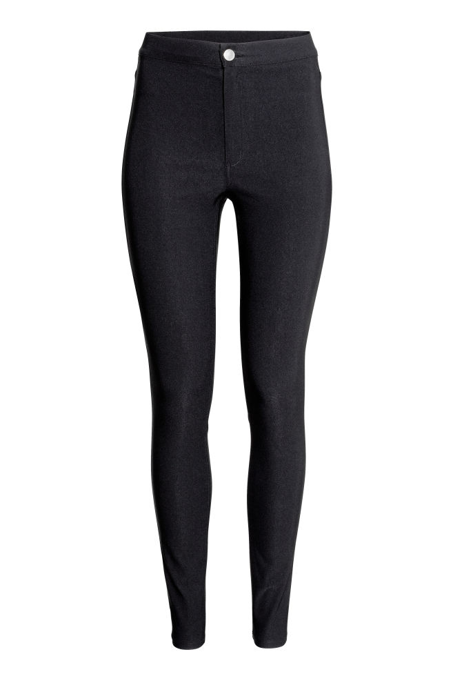 1d220b2de513e Trousers High waist - Black - Ladies | H&M ...
