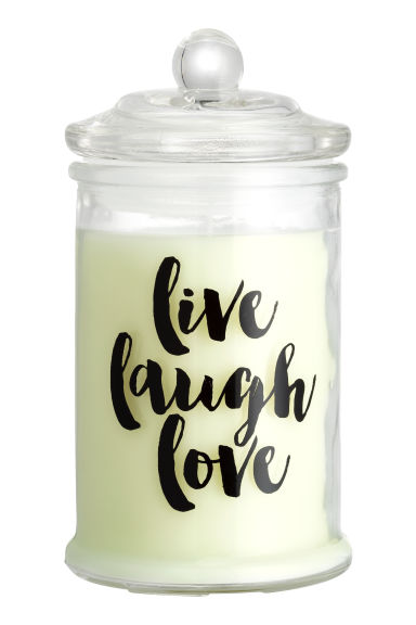 Scented candle in a glass jar - White/White Lily - Home All | H&M GB