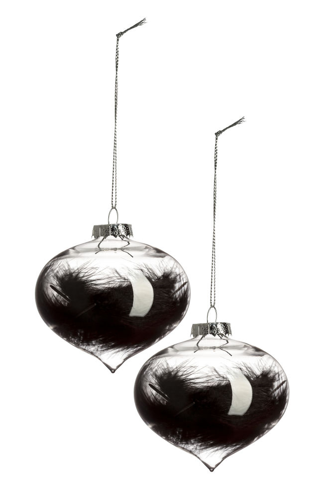 Clear Christmas Ornaments.2 Pack Christmas Ornaments