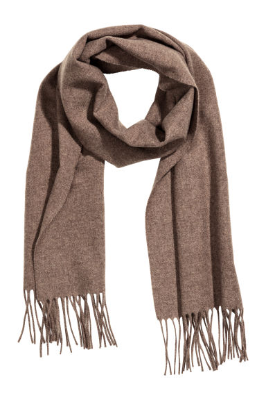 Wool scarf - Dark beige - Men | H&M GB