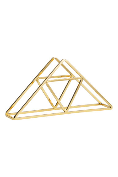 Metal napkin holder - Gold - Home All | H&M GB