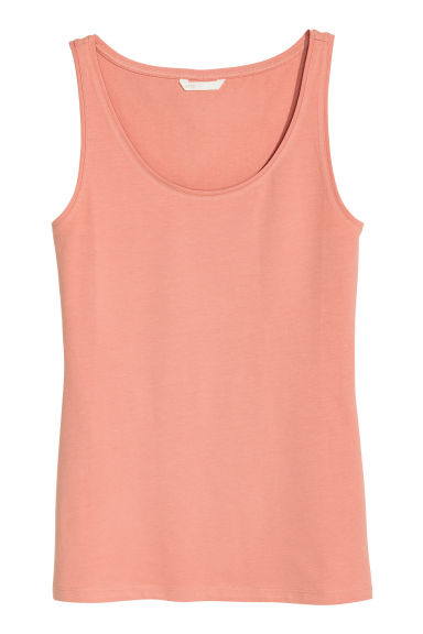 Jersey vest top - Dark powder pink - Ladies | H&M GB