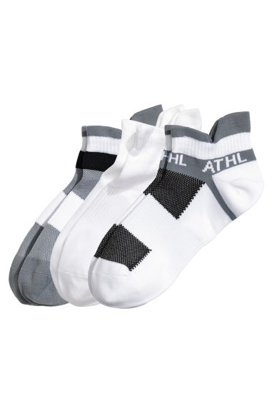 3-pack sports socks - White/Black - Men | H&M