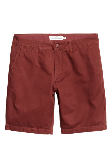 Chino shorts - Dark rust red - Men | H&M