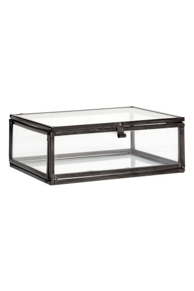 Boîte en verre transparent - Gris anthracite - HOME | H&M BE