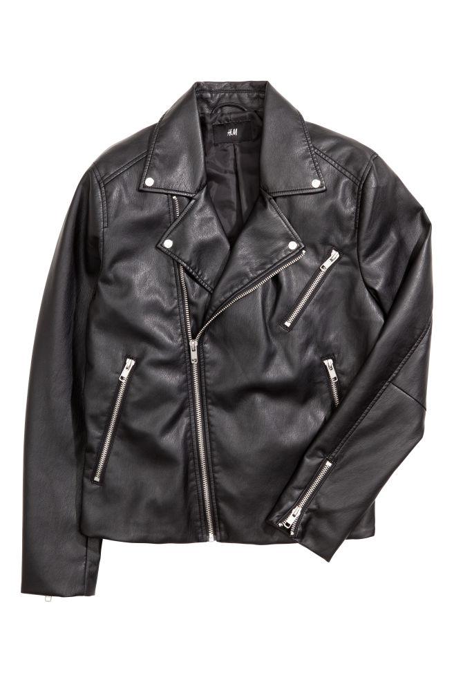 666e262fed7 ... Veste de style motard - Noir - HOMME