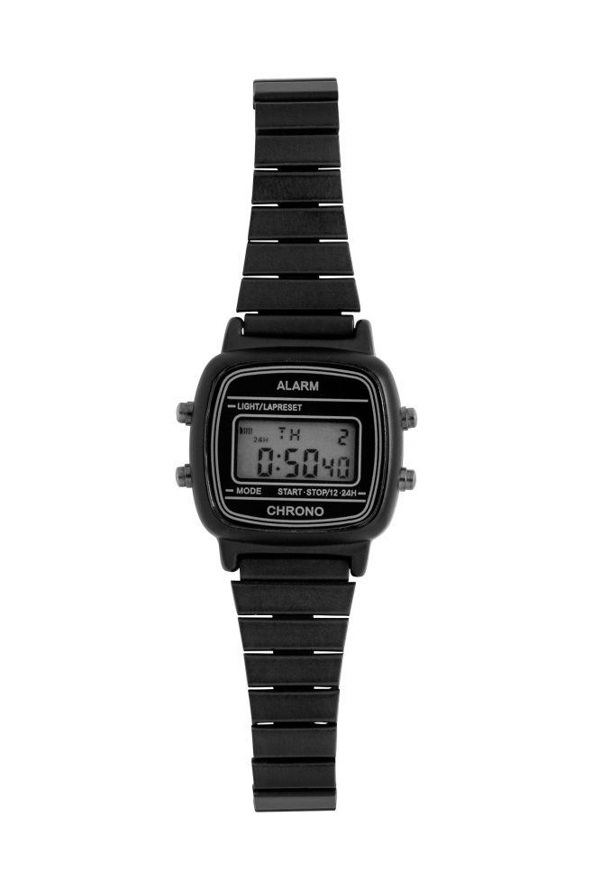 04875c8b0 Relógio de pulso digital - Preto - SENHORA