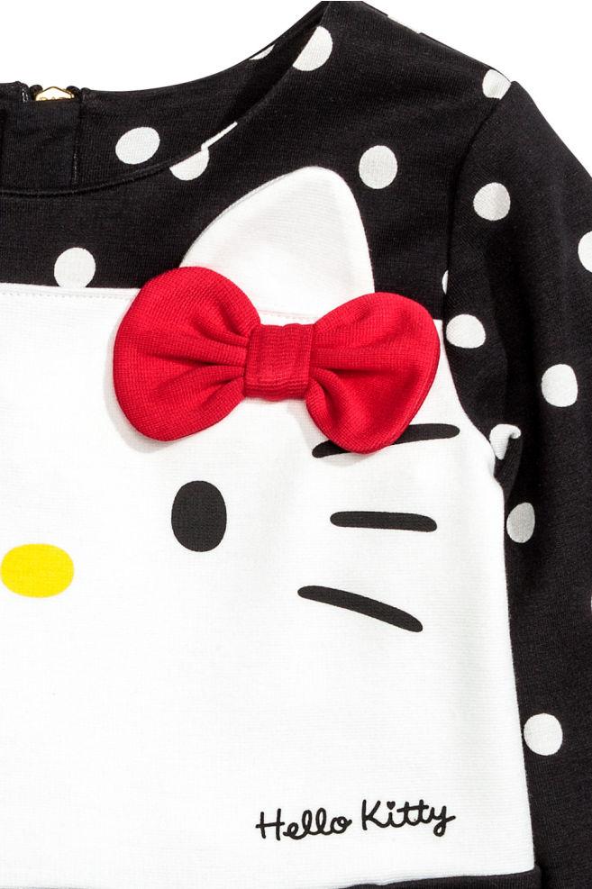 809364935 ... 2 Jersey dress - Black/Hello Kitty - Kids | H&M ...