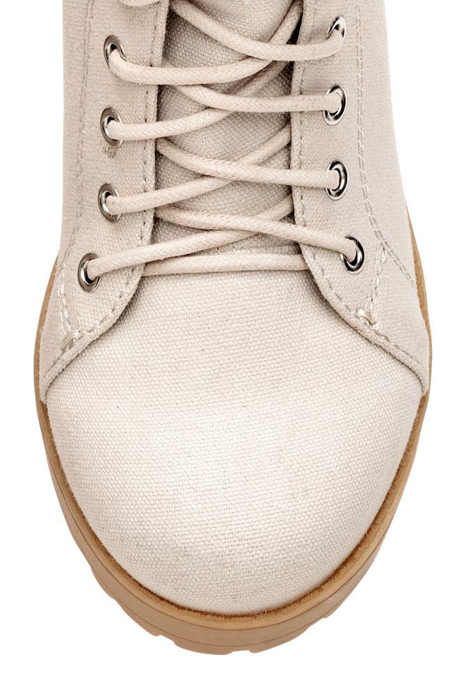 Ordin frumosi pantofi cel mai bun ieftin Botine din pânză cu platformă - Bej-deschis - FEMEI   H&M RO