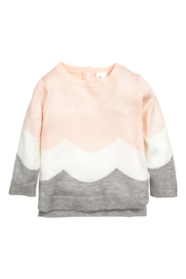 Fine-knit jumper - Powder pink - Kids | H&M IE