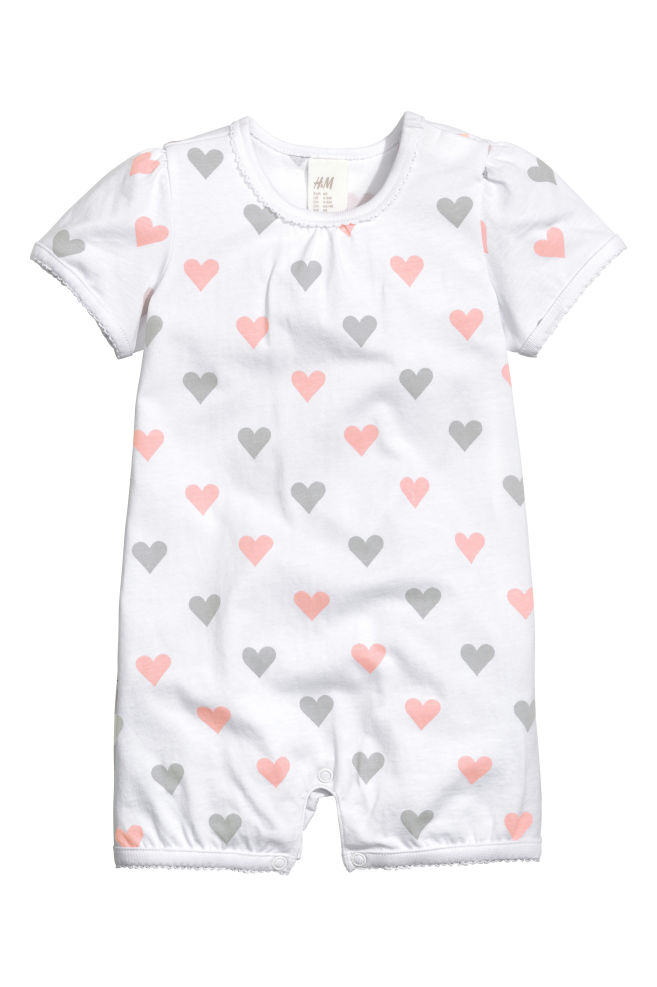 aaef11c69e6 Patterned romper suit - White Heart - Kids