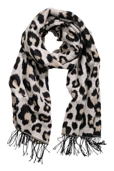 Jacquard-weave shawl - Leopard print - Ladies | H&M GB