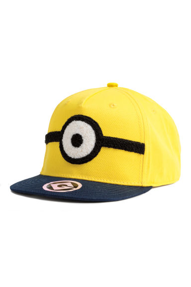 Cap with a print - Yellow/Minions - Kids | H&M