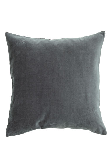 Velvet Cushion Cover - Anthracite grey - Home All | H&M CA