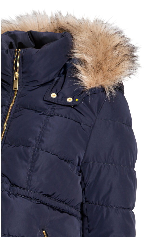 d858704090abb ... MAMA Padded jacket - Dark blue - Ladies | H&M ...