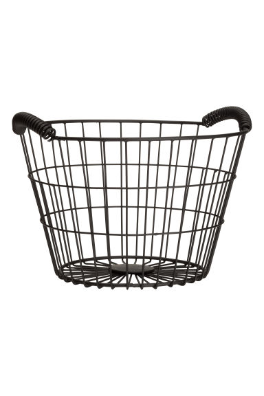 Small wire basket - Black -  | H&M GB
