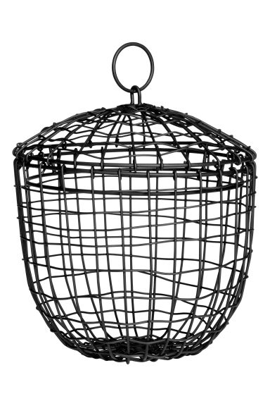 Small metal wire basket - Black - Home All | H&M IE