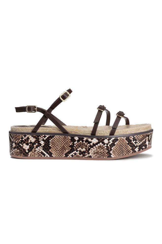 bc3a72f1a909 Platform sandals - Snakeskin print - Ladies