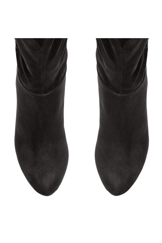1567d966b23cd Čižmy nad kolená - čierna - ŽENY   H&M ...