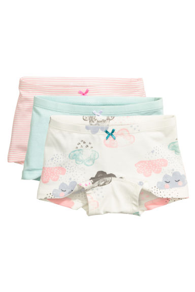 3-pack boxer briefs - White/Cloud - Kids | H&M