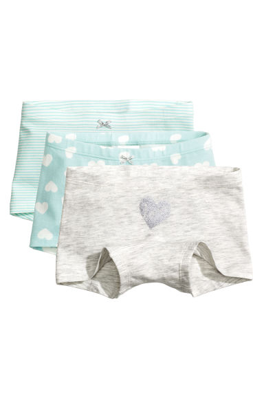 3-pack boxer briefs - Light turquoise/Hearts - Kids | H&M
