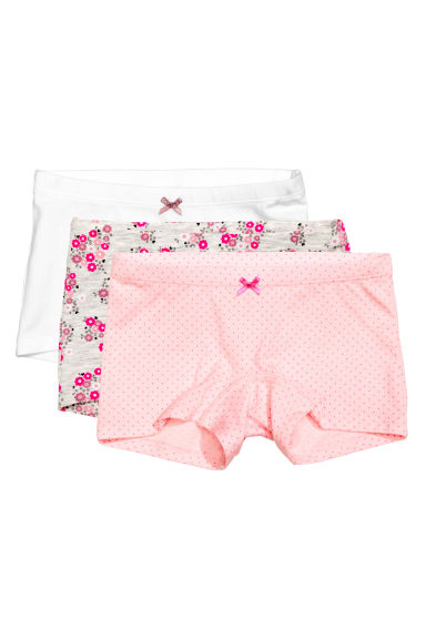 3-pack boxer briefs - Light pink/Spotted - Kids | H&M