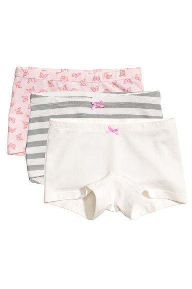 3-pack boxer briefs - Light pink/Butterflies - Kids | H&M
