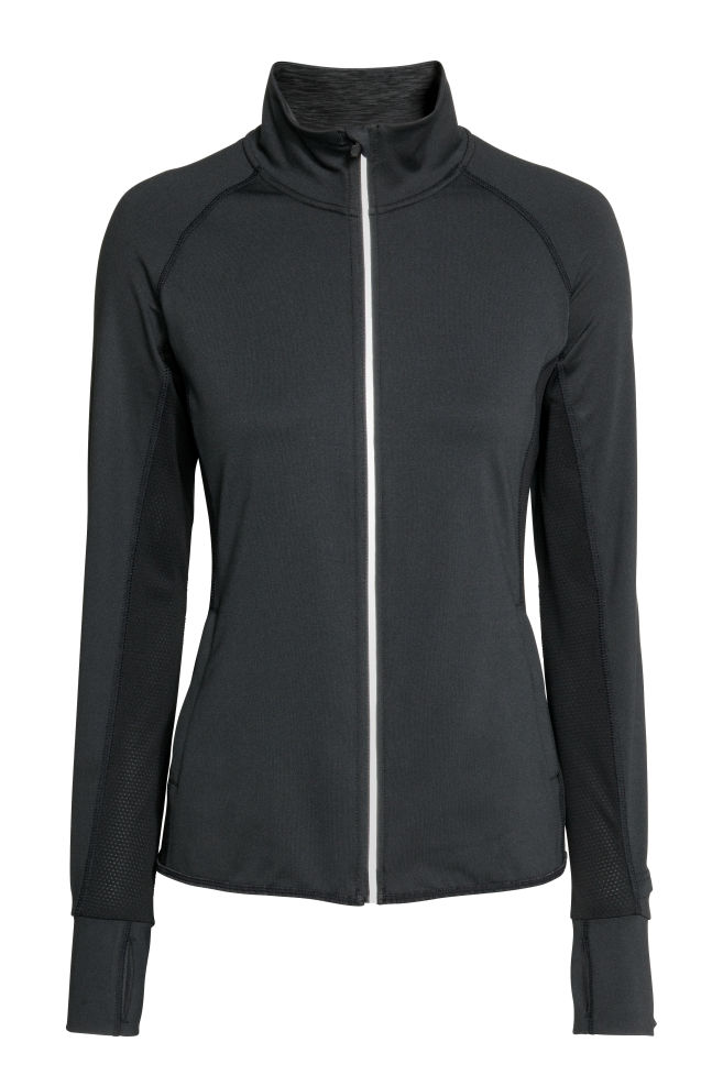 1b65e7b90e56 Running jacket - Black - Ladies