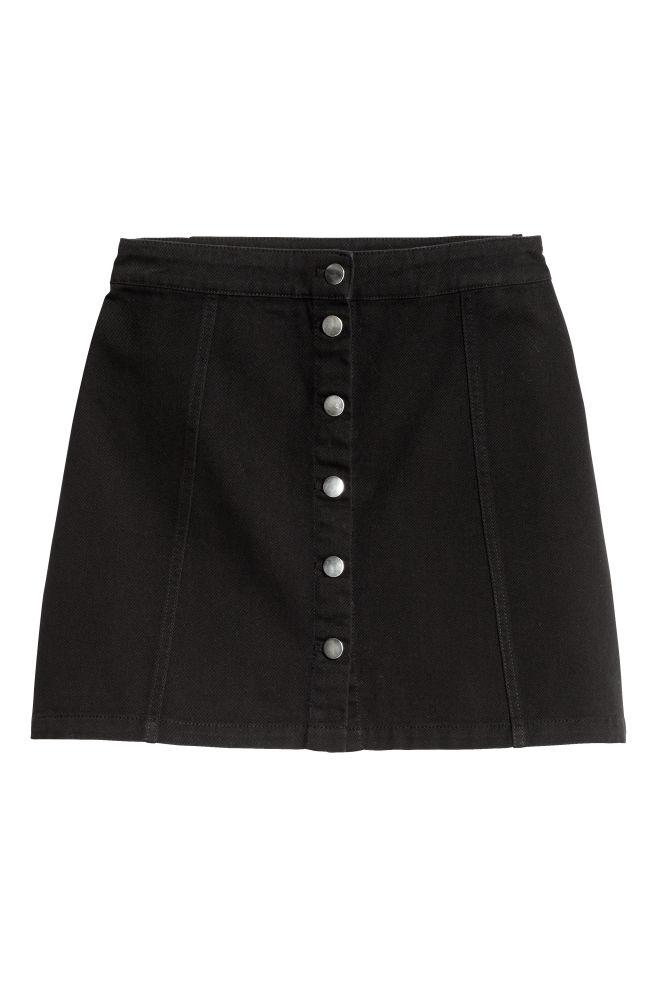 b6ab854695 A-vonalú szoknya - Fekete - | H&M ...