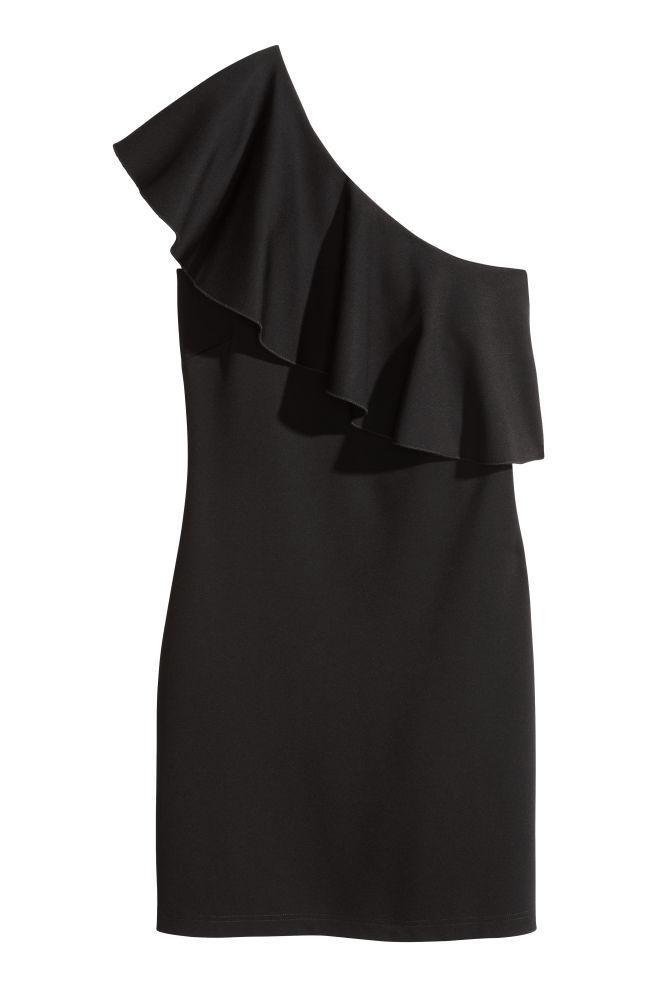 fca9337f2c6f Šaty s jedním ramínkem - Černá - ŽENY