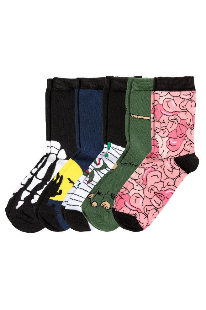 469c0741024 Balení  5 párů ponožek - Černá Halloween - DĚTI