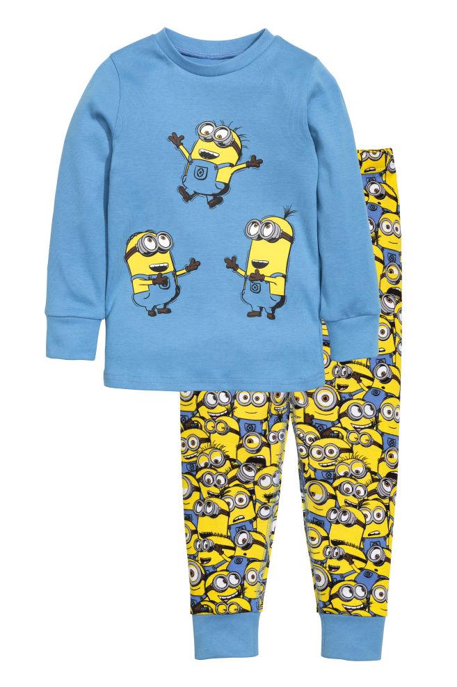 bddf235df0daac Dżersejowa piżama - Niebieski/Minionki - Dziecko | H&M ...