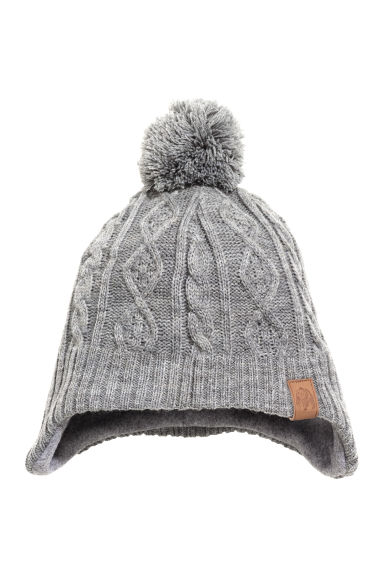 Hat with earflaps - Grey -  | H&M GB