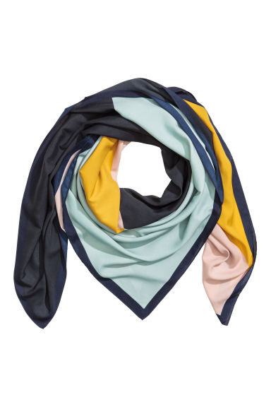 Patterned scarf - Mint green - Ladies | H&M IE