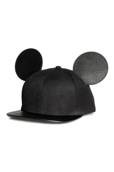 Cap with ears - Black/Mickey Mouse - Ladies | H&M GB