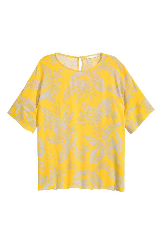 d207888a3f Mintás blúz - Világosbézs/sárga - NŐI   H&M ...