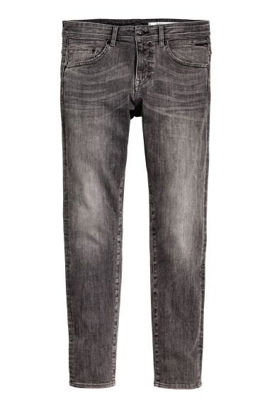 Tech Stretch Slim Low Jeans - Black washed out -  | H&M CN