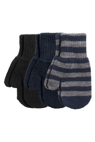 3-pack mittens - Dark blue - Kids | H&M IE