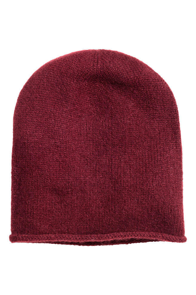 43cfbc13e29 Cashmere hat - Burgundy - Ladies
