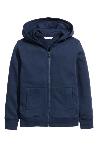 Hooded jacket - Dark blue - Kids | H&M CN