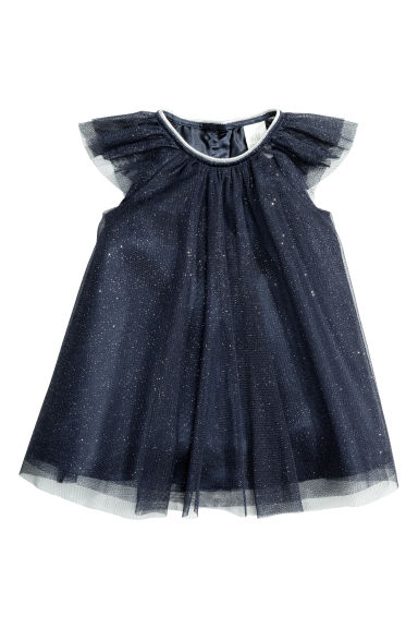 Tulle dress - Dark blue - Kids | H&M CN