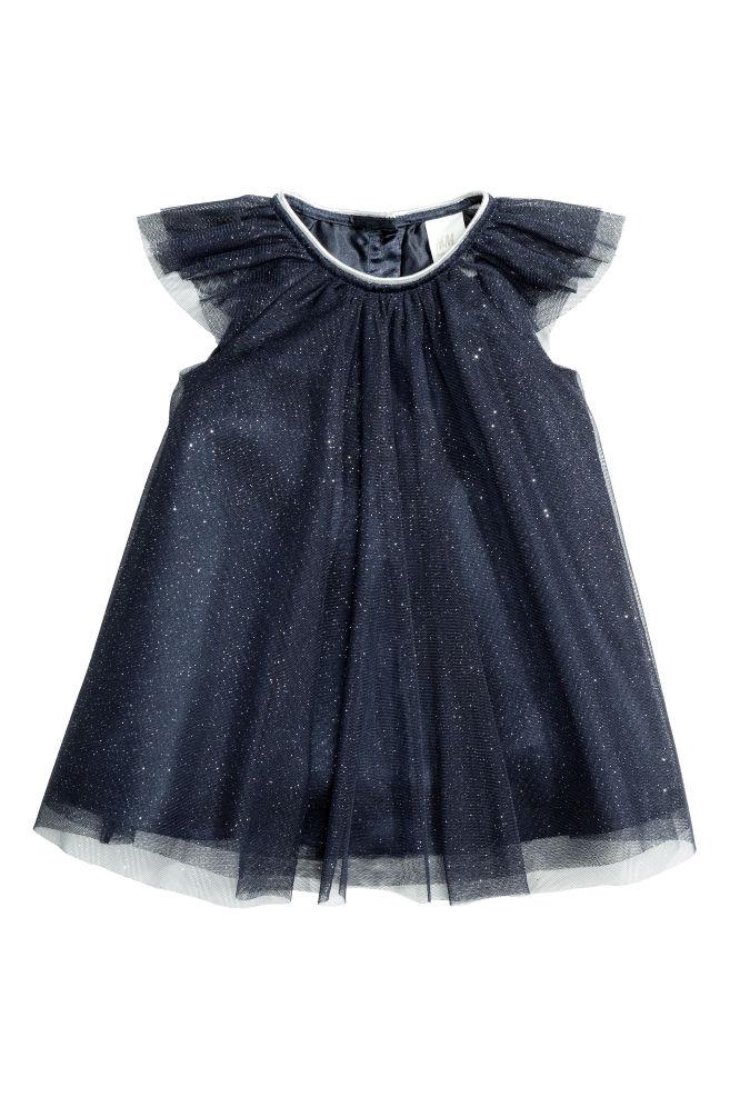 4cf2e9d83 Tulle dress - Dark blue - Kids | H&M ...