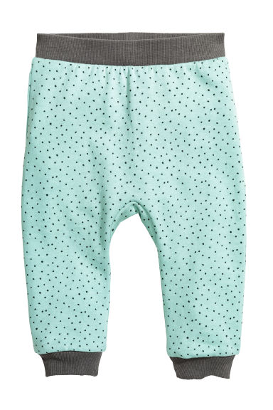 Joggers - Mint green/Spotted - Kids | H&M CN