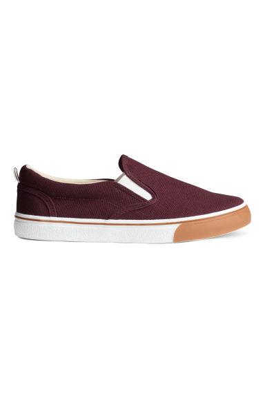 Slip-on trainers - Burgundy - Kids | H&M CN