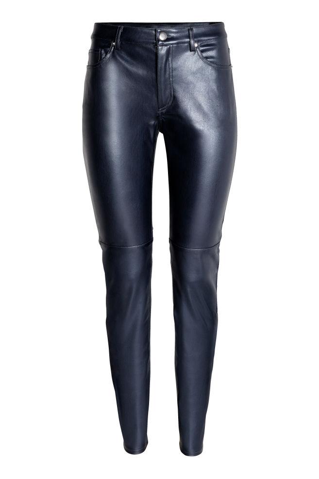 49daf155e5 Műbőr nadrág - Sötétkék - NŐI | H&M HU