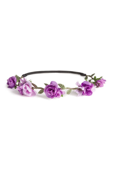 Hairband with flowers - Purple - Ladies | H&M CN